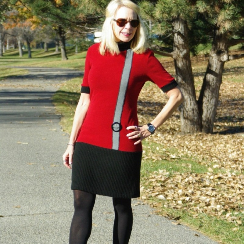 A HAND-ME-OVER SWEATER DRESS