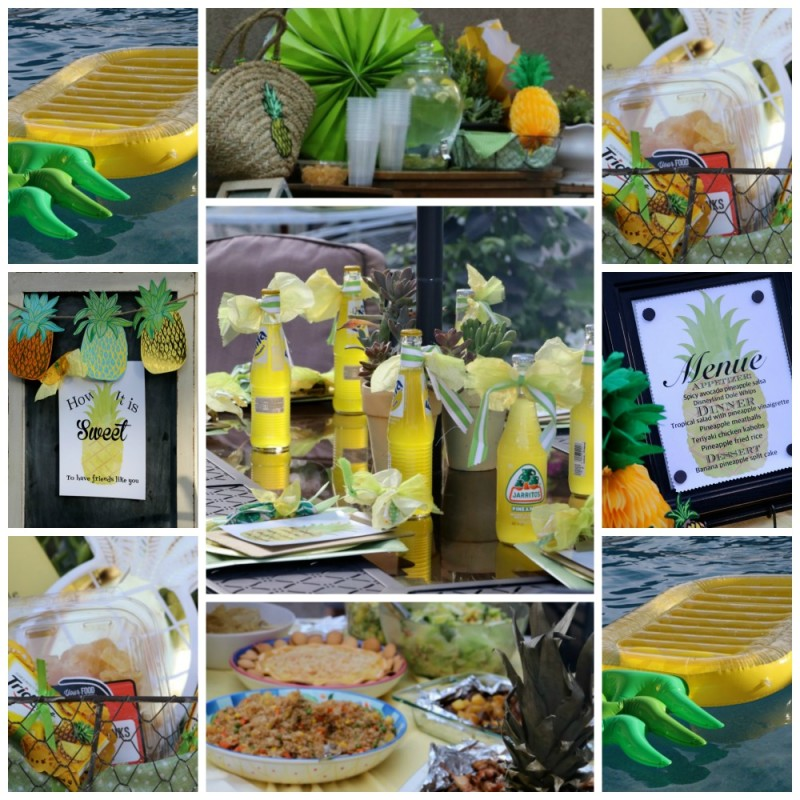 HOW TO THROW A SUMMER SOIREE WITH A PINEAPPLE THEME