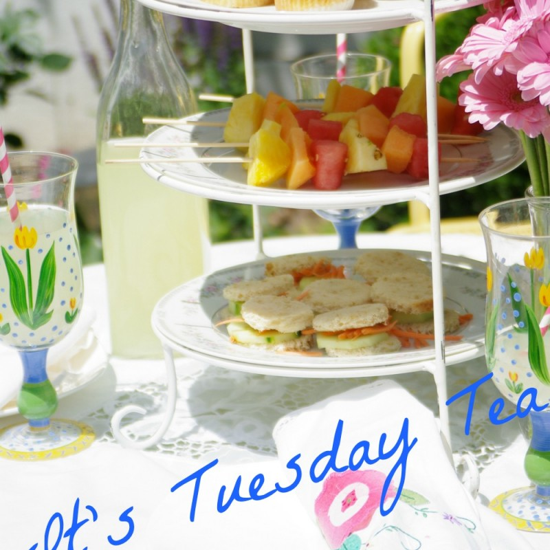 TUESDAY TEA . . . WITH SUMMER ATTIRE AND SIMPLE TREATS